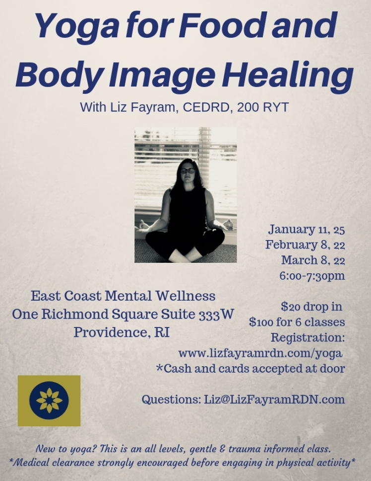 Yoga For Food and BI Healing Flyer